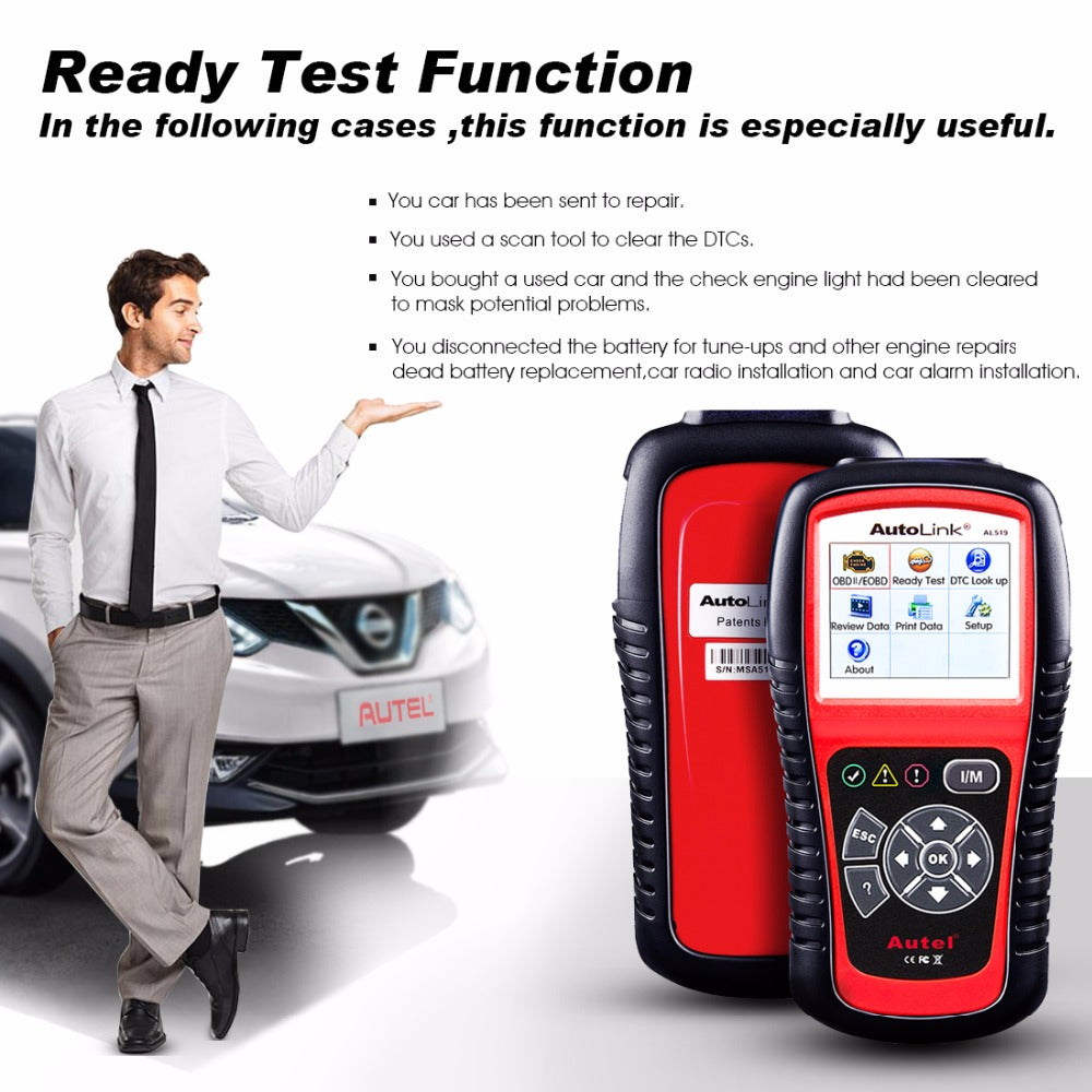 Autel AutoLink AL519 OBD2 Scanner CAN-BUS Diagnostic Scan Tool
