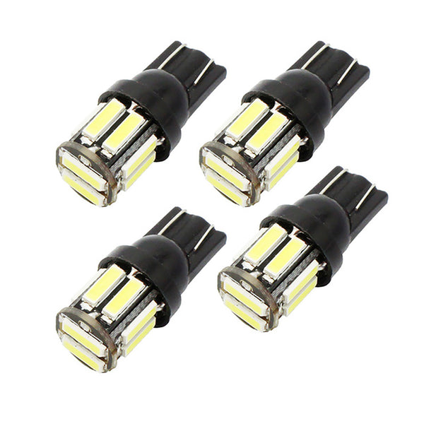 4Pcs W5W 10-7020 SMD Car T10 LED 194 168 Wedge Replacement Reverse Instrument Panel Lamp White Blue Bulbs For Clearance Lights - VXDAS Official Store