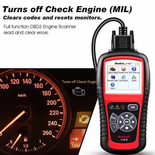 Autel AutoLink AL519 OBD2 Scanner CAN-BUS Diagnostic Scan Tool - VXDAS Official Store