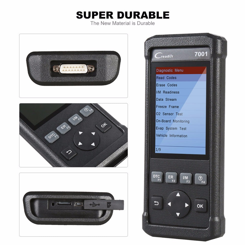 Launch CReader 7001 Full OBD2 Scanner/Scan Tool with Oil Resets Service for  61 cars