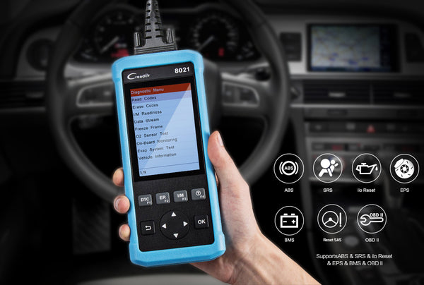 Launch CReader 8021 Full OBD2 Diagnostic Scanner With Battery Management System(BMS) Oil+SAS+EPB+ABS+SRS  - VXDAS Official Store