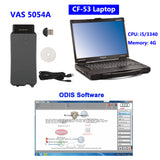 VAS 5054A Diagnostic Tool with Panasonic CF-53 Laptop Installed ODIS V5.2.6 320G HDD Full Set Ready to Use - VXDAS Official Store