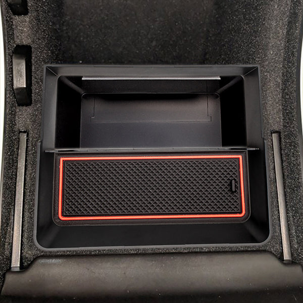 Car Central Armrest Box For Tesla Model 3 Double Storage Design Tissue Box Trash Can Stowing Tidying
