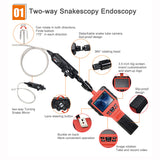 Portable Two-way Rotating Head Industrial Borescope with Waterproof Inspection HD Probe Snake Camera - VXDAS Official Store