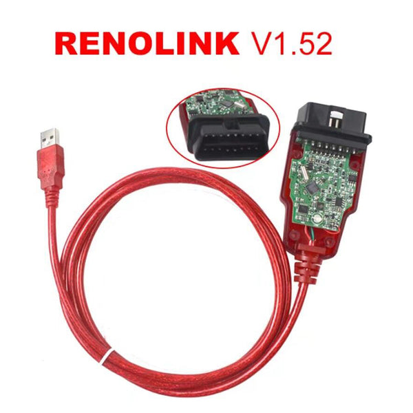 Renolink OBD2 ECU Programmer V1.52 CD Software Key Coding UCH Matching Dashboard Coding ECU Resetting Functions - VXDAS Official Store