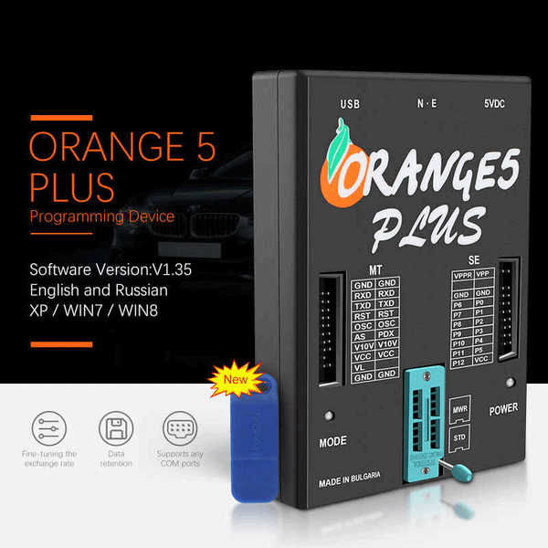 2020 OEM Orange5 Plus V1.35 Programmer With Full Adapter Enhanced Functions with USB Dongle