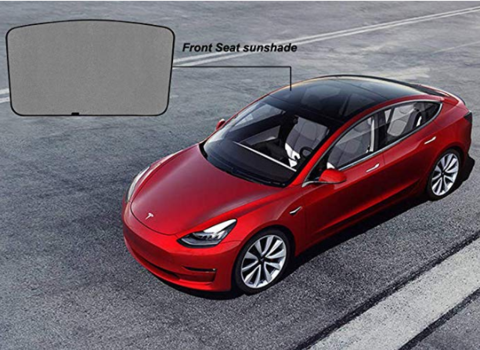 Mesh Roof Front Rear Sunshade Shield Cover for Tesla Model 3 Skylight Screen Shade Heat Insulation Exterior Parts - VXDAS Official Store