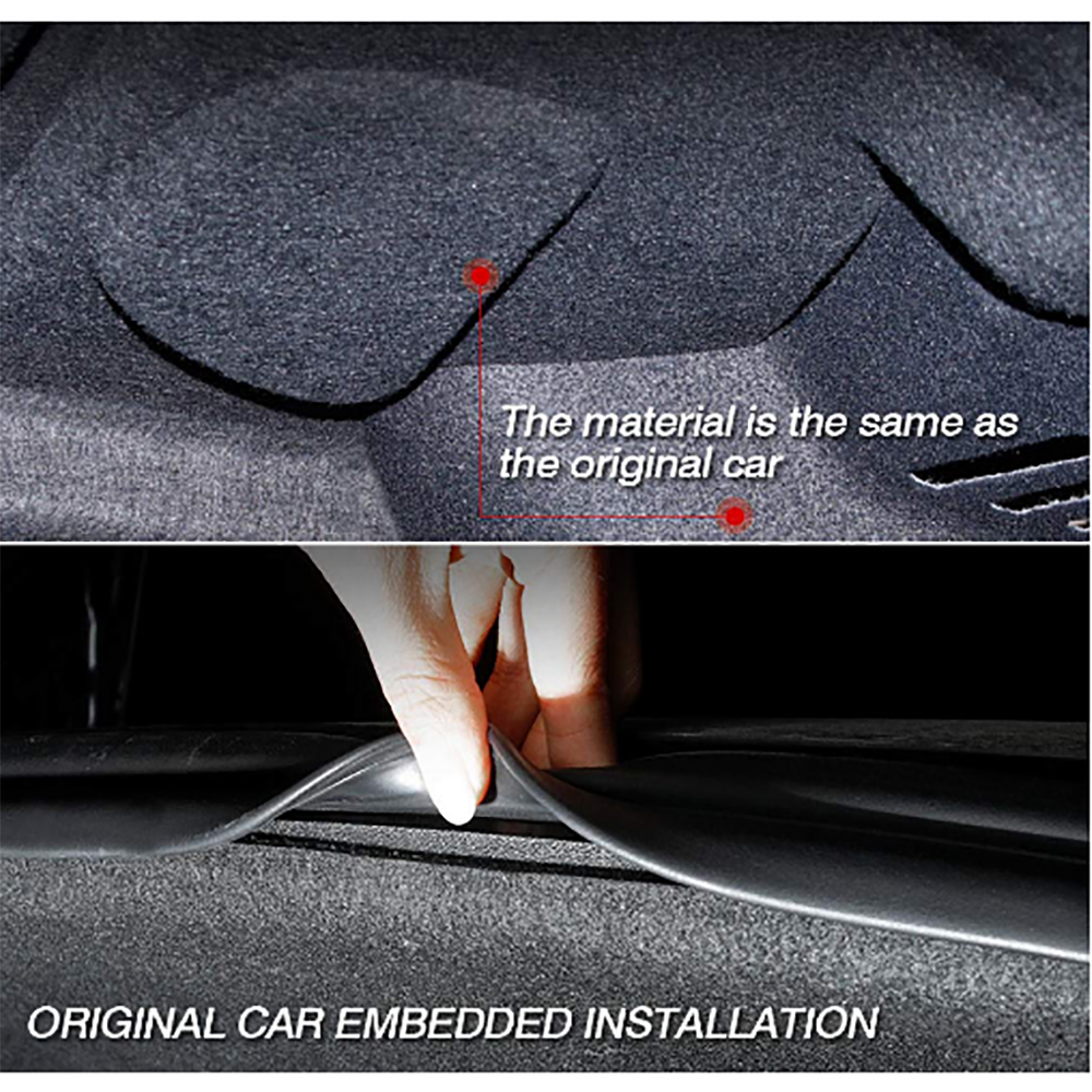 Car Trunk Noise Reduction Mat Customized Car Rear Trunk Soundproof Cotton  Mat Sound Proof Protective Pad For Tesla Model 3