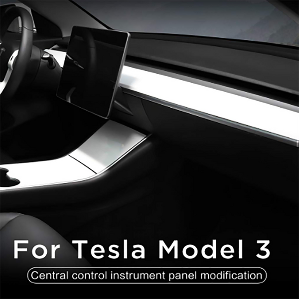 Center Control Panel Long Trim Strip Instrument Panel  Central Console Package kit Protection For Tesla model3 - VXDAS Official Store