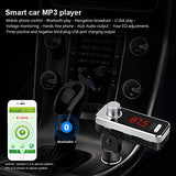 VXDAS Bluetooth car charger BC11B Wireless Bluetooth FM Transmitter Car MP3 Player With Handsfree Calling and Three USB Charging Port - VXDAS Official Store