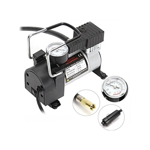 VXDAS Portable Mini Car Air Compressor for Bike/Bicycle Vehicle DC12V Electric Pump Tire Inflators with Pressure Checking Gauge - VXDAS Official Store