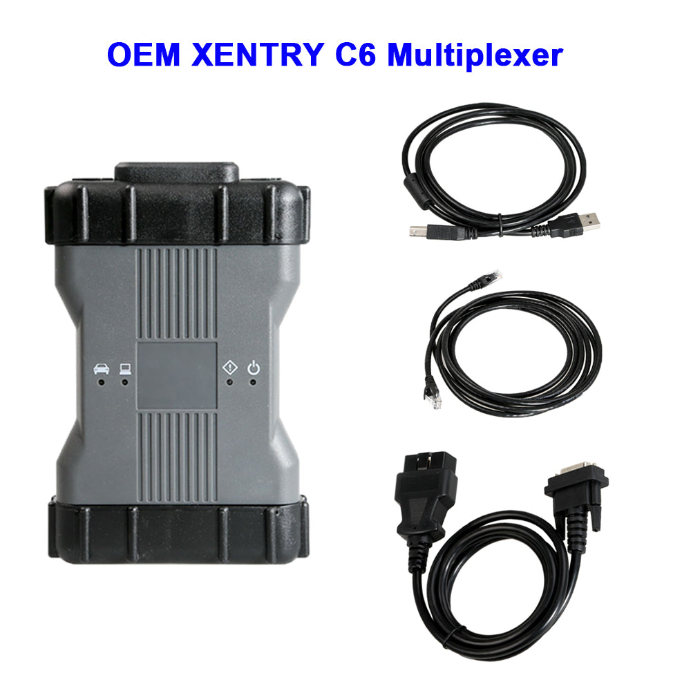 Benz C6 OEM DoIP XENTRY Diagnosis VCI Multiplexer with V2019.12 Xentry Software 500G HDD For Benz Car/Trucks