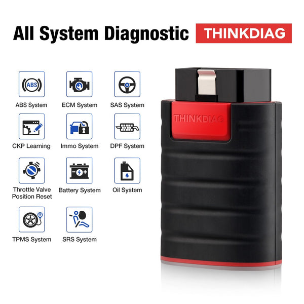Launch X431 Thinkdiag OBD2 Full System Power than Easydiag Diagnostic Tool with 3 Free Software - VXDAS Official Store