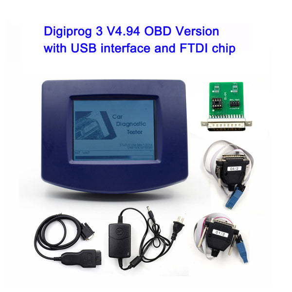 Digiprog 3 v4.94 Odometer Programmer OBD/Full Set Version with USB Interface & FTDT Chip Odometer Correction Tool - VXDAS Official Store