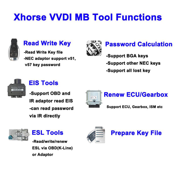 Xhorse VVDI MB BGA Tool V5.0.3 For Mercedes Benz Key Programmer - VXDAS Official Store