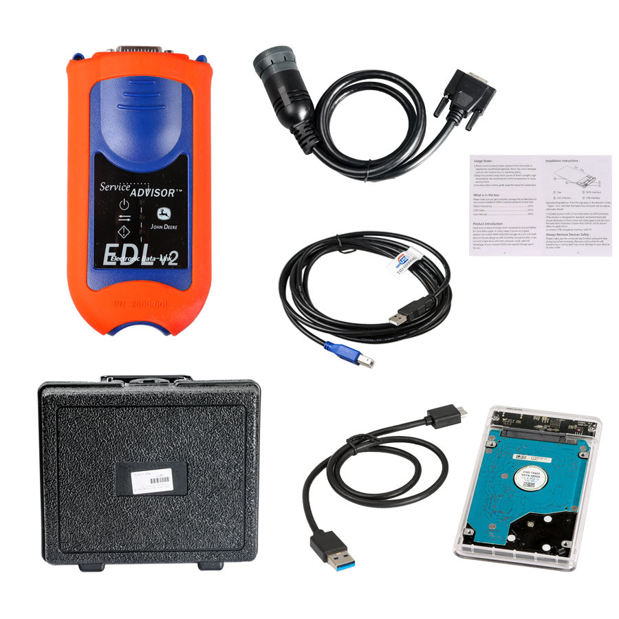 Service Advisor EDL V2 Electronic Data Link Truck Diagnostic Kit John Deere  with V4 2 HDD Software