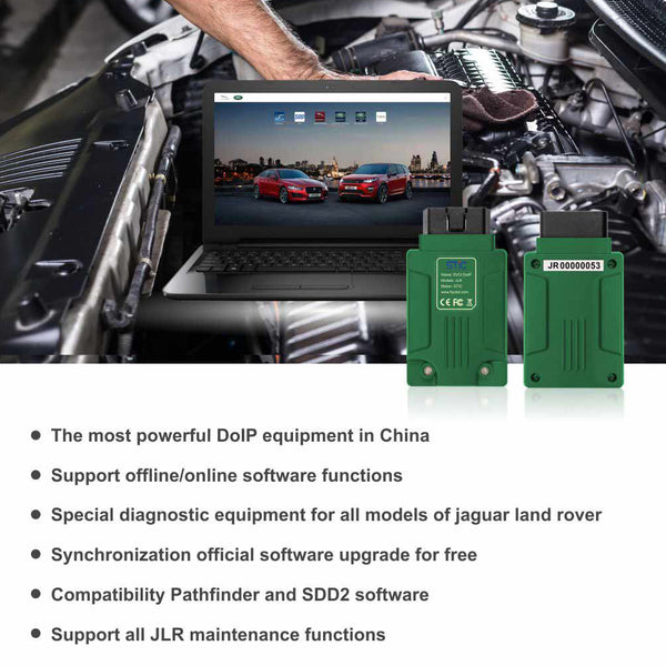 STC SVCI DoIP for Jaguar Land Rover Diagnostic Tool with PATHFINDER & JLR SDD V156 Software Support JLR from 2005 to 2019 Online Programming - VXDAS Official Store