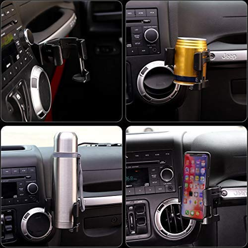 Jeep Bracket Organizer Drink JK 2011-2018 Bolt-on Multi-Function for Unlimited Stand Phone Wrangler & Holder Cup - VXDAS Official Store