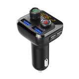C57 Quick charge 3.0 Car Bluetooth FM Transmitter Dual USB Ports Car Charger FM Modulator MP3 Player Car Lighter Handsfree - VXDAS Official Store