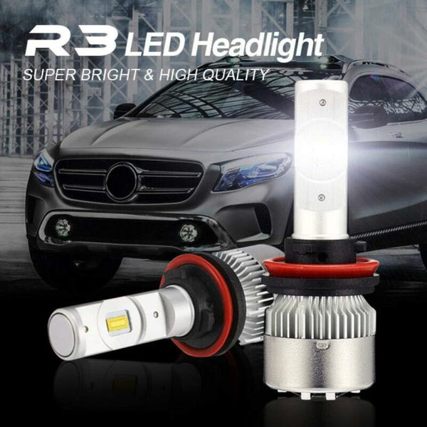 Fog HID H11 72W Low LED Bulb White Beam Kit Headlight H9 6000K 7600LM H8 - VXDAS Official Store