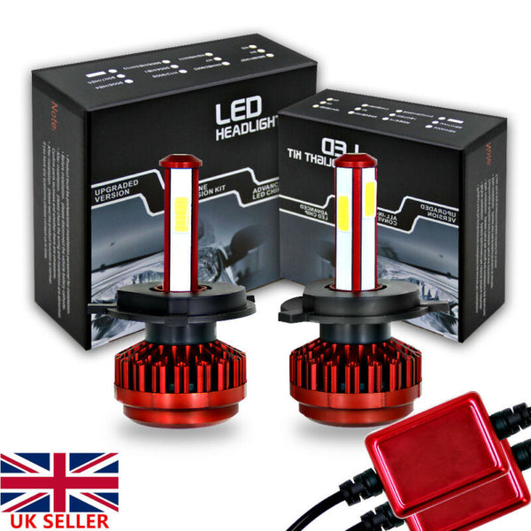 2x Car LED Headlight Kit H4 H7 H11 9006 200W 6000K R7 Bright Fog Bulbs Lamp UK - VXDAS Official Store