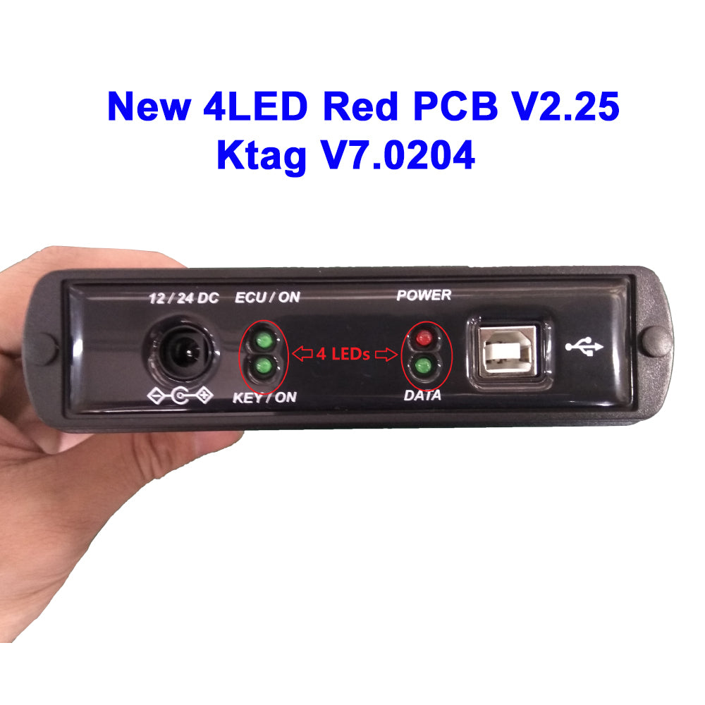 KTAG 7.020 Red PCB New 4LED EU Online Version SW V2.23 No Token Limited Support Full Protocols