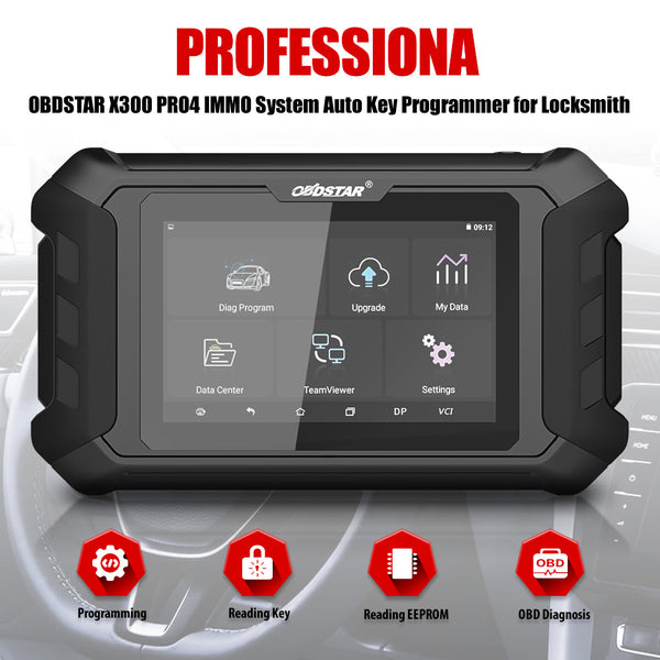 OBDSTAR X300 Pro4 Key Programmer Key Master 5 IMMO Version for Locksmith - VXDAS Official Store