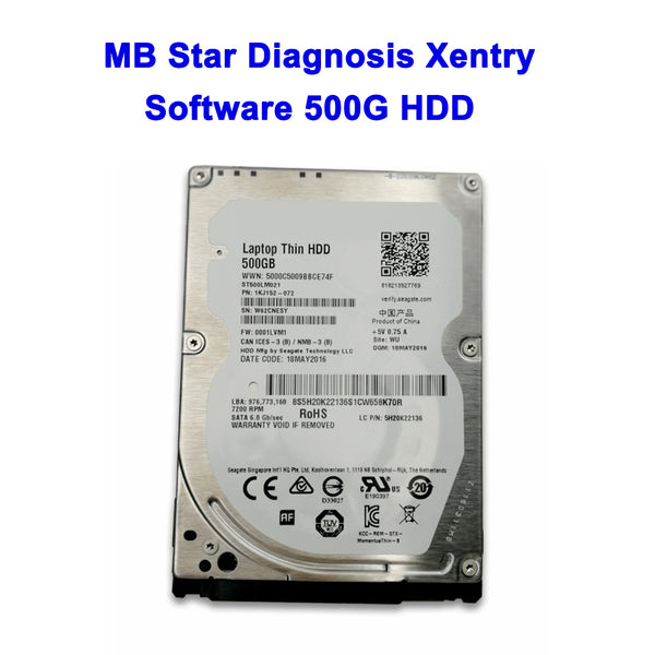 MB Star Diagnostic Xentry Software V2019.12 500G HDD