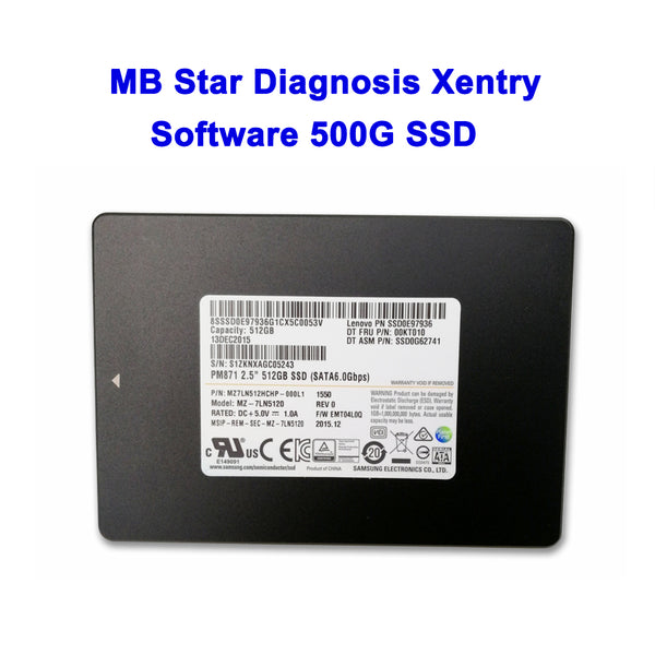 MB Star Diagnostic Xentry Software V2019.12 500g SSD