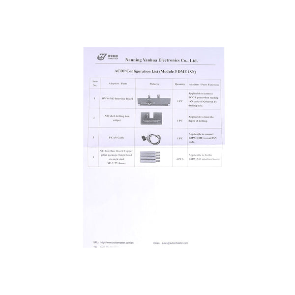 Yanhua Mini ACDP Module 3 Read & Write BMW DME ISN Code by OBD When All Keys Lost - VXDAS Official Store