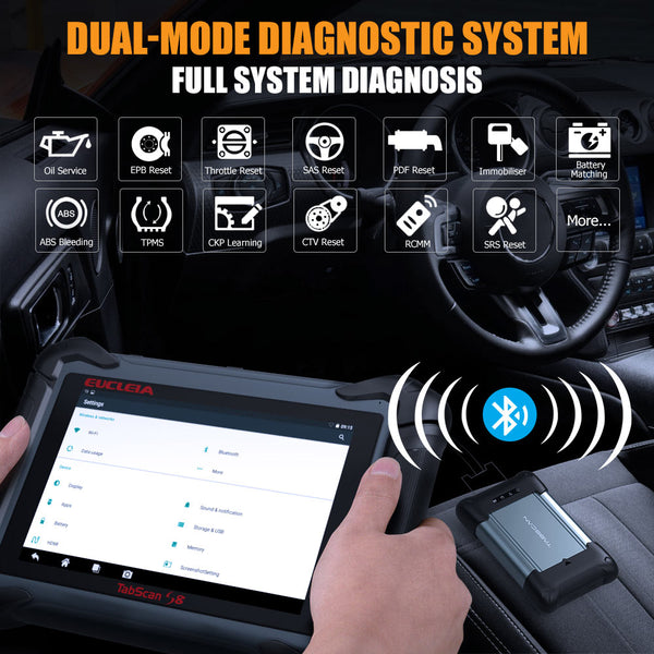 EUCLEIA TabScan S8 Pro Automotive Intelligent Dual-mode Diagnostic System Free Update Online