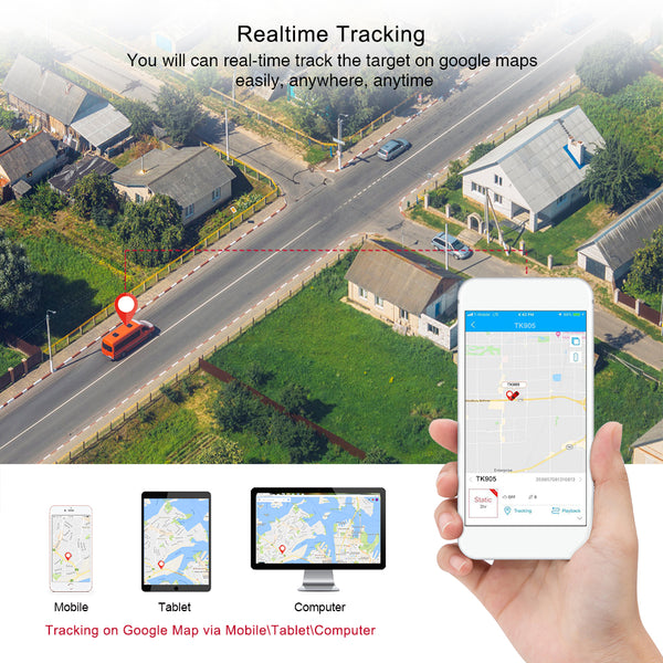 GPS Car Tracker TKSTAR TK905 5000 mAh 90 Days 2G Vehicle GPS Tracker Waiting Locator Proof Magnet Water Voice Monitor free Web APP - VXDAS Official Store