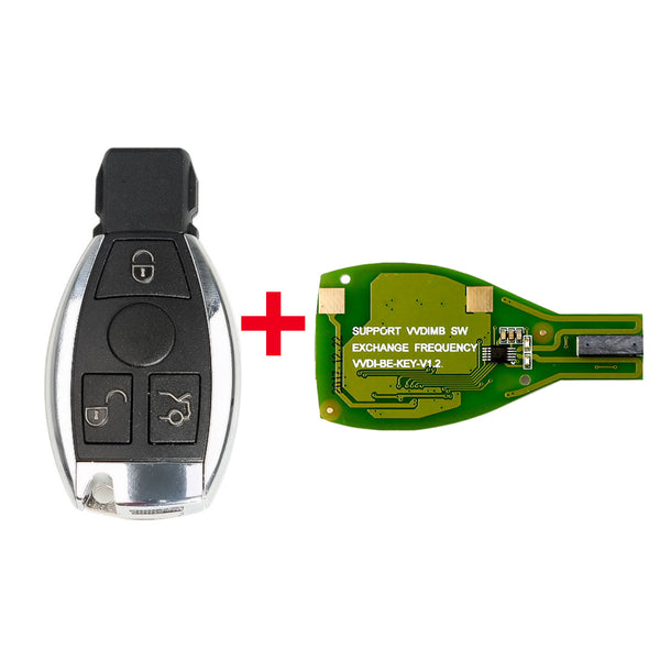 Xhorse VVDI BE Key Pro Plus with Smart Key Shell 3 Button Single Battery for Mercedes Benz
