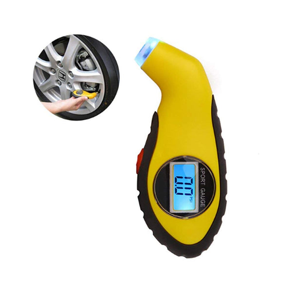 VXDAS Digital Tire Pressure Gauge Small portable design can extend tire life Settings for Car Truck Bicycle with Backlit LCD and Anti-skid Rubber Handle - VXDAS Official Store