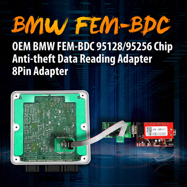OEM BMW FEM-BDC 95128/95256 Chip Anti-theft Data Reading Adapter 8Pin Adapter Work with VVDI Prog/CG Pro 9S12/Orange5 - VXDAS Official Store