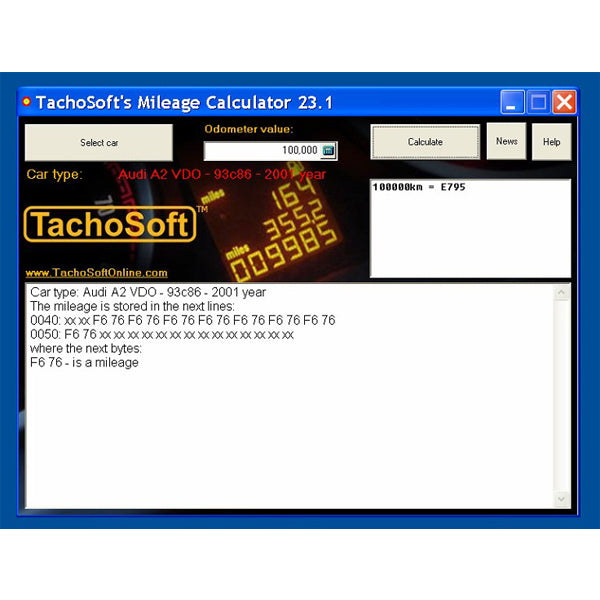 Newest Tachosoft Mileage Calculator V23.1 - VXDAS Official Store