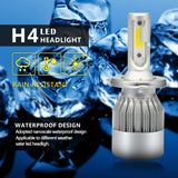 2X H7 Led Car Headlights H4 80 w 8000lm Led Car Light Bulbs H1 H8 H9 H11 Car Headlights 6000 k led C6 12 v Led Fog Lights - VXDAS Official Store