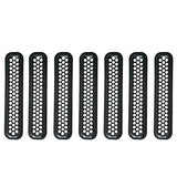 Grill Mesh Inserts Clip-in Honeycomb Grille Guards for 1997-2006 Jeep Wrangler TJ & Unlimited (Pack of 7) - VXDAS Official Store