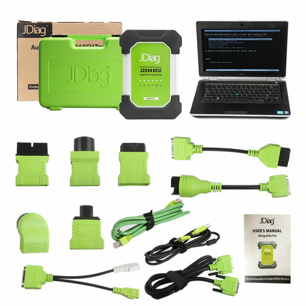 JDiag Elite II Pro J2534 Device with Full Adapters Diagnostic & Programming 2 in 1 with DELL E6430 Full Set - VXDAS Official Store