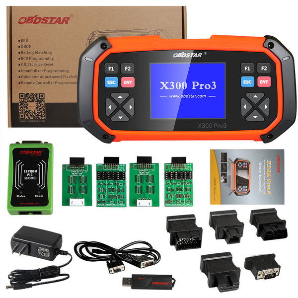 OBDSTAR X300 PRO3 Key Master with Immobiliser + Odometer Adjustment + EEPROM/PIC + OBDII + Toyota G & H Chip All Keys Lost - VXDAS Official Store