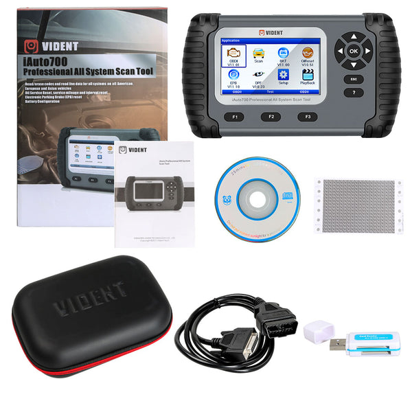 Vident iAuto700 Professional All System Scan Tool for Engine Oil Light EPB EPS ABS Airbag Reset Battery Configuration - VXDAS Official Store