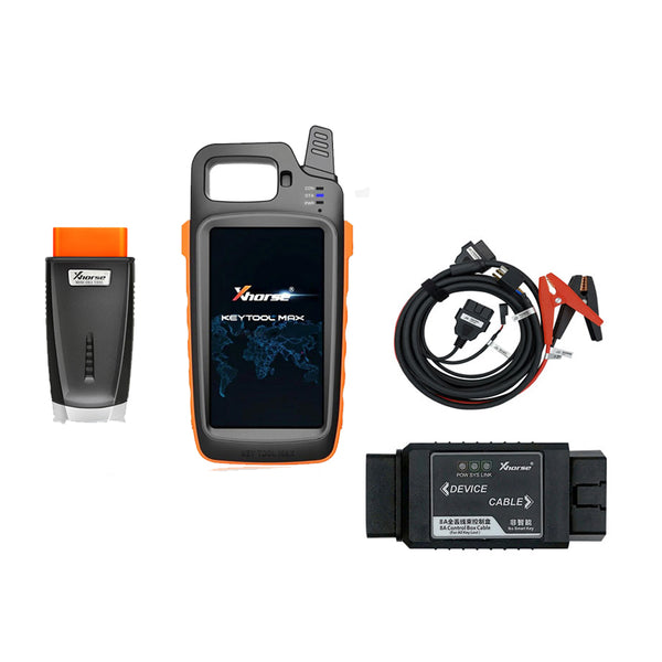 Xhorse VVDI Key Tool Max with MINI OBD Tool Key Programmer plus Toyota 8A All Keys Lost Adapter