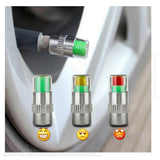 VXDAS Tire Pressure Caps Tire Valve Caps 4PCS 2.4 Bar Auto TPMS Tire Pressure Monitor Indicator 3 Color Eye Alert - VXDAS Official Store