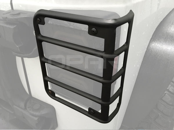 Hooke Road Black Euro Light Guards for Rear Taillight (Tail Light) Covers fit 2007-2018 Jeep Wrangler JK - VXDAS Official Store