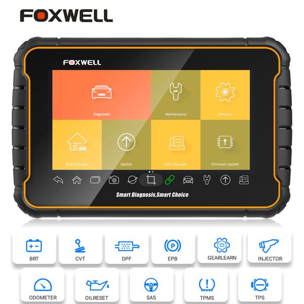 Foxwell GT60 Android Tablet Full System Scanner Support 19+ Special Functions Oil/EPB/Reset/DPF/BMS/Injector/Coding Update Version of GT80