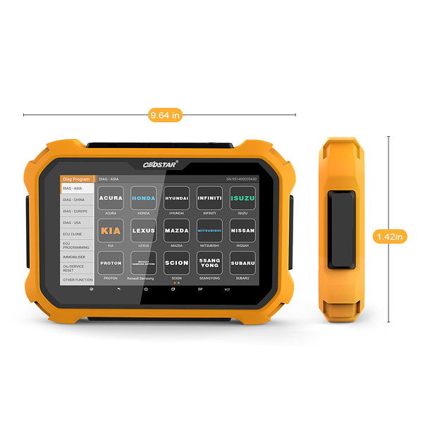 OBDSTAR X300 DP PLUS Auto Key Programmer Tablet Immobilizer Key Master DP OBD2 Automotive Scanner Tool All Key Lost ECU Clone - VXDAS Official Store