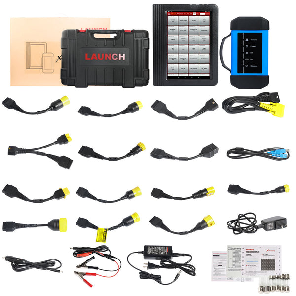 LAUNCH X431 V+ with HD3 HD III Module Heavy Duty Truck Diagnostic Tool for 12V 24V Diesel Trucks 1 Year Free Update - VXDAS Official Store