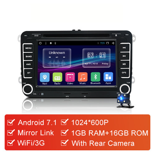 "7"" 2 din Car DVD GPS radio stereo player for Volkswagen VW golf 6 passat b6 B7 Touran polo Tiguan seat leon skoda octavia - VXDAS Official Store"