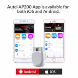 Autel AP200 Bluetooth OBD2 Scanner Code Reader with Full Systems Diagnoses Auto VIN TPMS IMMO Service - VXDAS Official Store