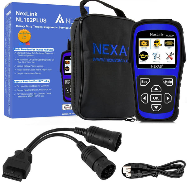 Nexas NL102P Diesel Heavy Duty Truck and Car Diagnosis Tool 2 in 1 with DPF/ Oil Reset - VXDAS Official Store